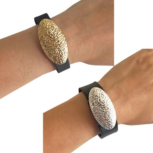 Charm to Accessorize the Fitbit Flex, Fitbit Flex 2, Fitbit Alta, Fitbit Charge, Charge HR, Xiaomi Mi, Garmin Vivofit, Vivosmart or Jawbone Up - The ANGELINA Charms in Gold and Silver to Dress Up Your Favorite Fitness Tracker Bundle Pack
