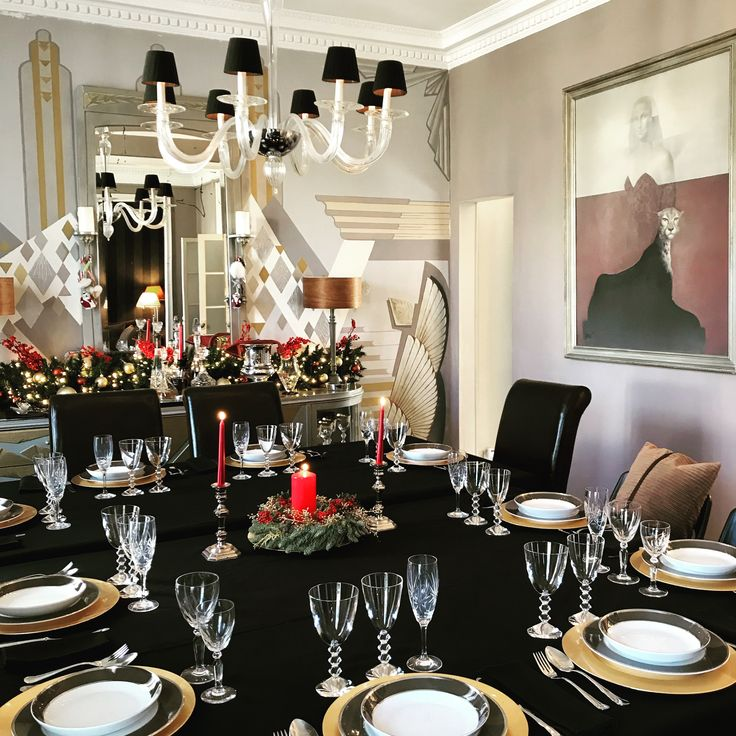 Dinner room, christmas decoration
