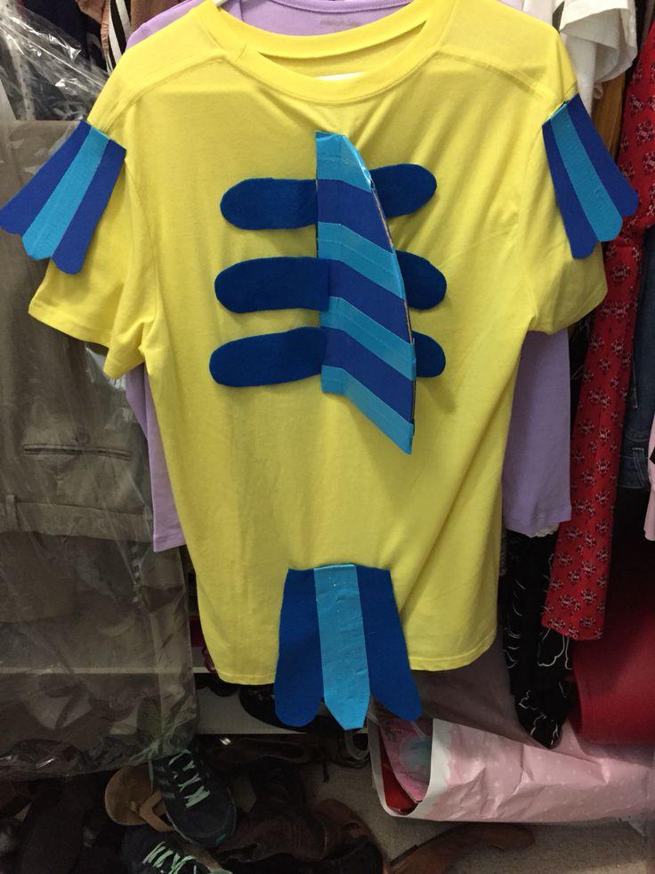 super easy Adult flounder costume