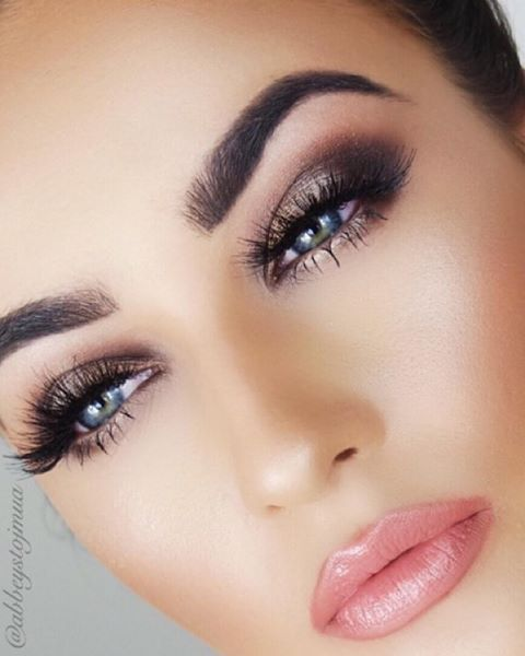 Obsessing over this #gorgeous glam by @abbeystojmua using our Slip lip vex and Heavenly blush! // #sigmabeauty