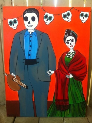 17 best images about sugar skulls and day of the dead on for Diego rivera day of the dead mural
