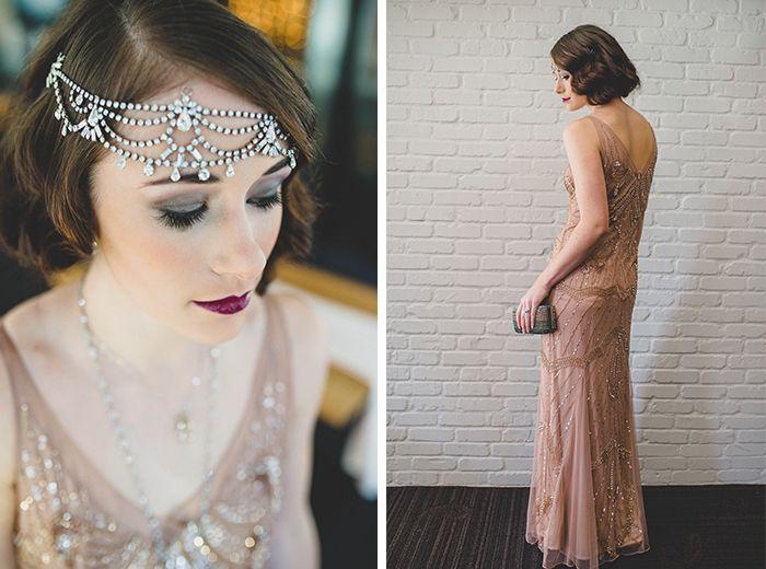 Stunning Gatsby glam wedding dress