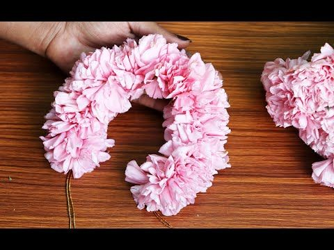 Bridal Jadai Veni With Carnation Flower How To Make Carnation Flower Veni In Tamil Women S Art Youtube In 2020 Carnation Flower Flower Art Carnations