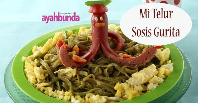Mi Telur Sosis :: Egg Sausage Noodle :: Klik link di atas untuk mengetahui resep mi telur sosis