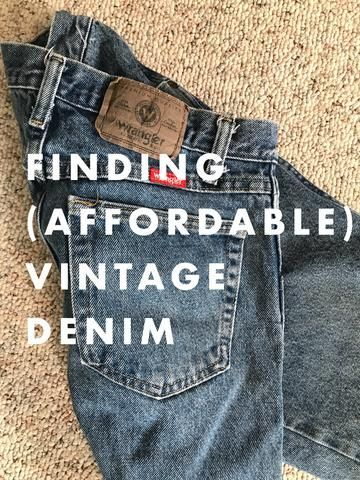 The elusive (and often expensive) high waisted vintage, above ankle denim guide