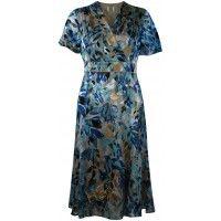 Ex Jacques Vert Devore Leaf Pattern Occasion Dress