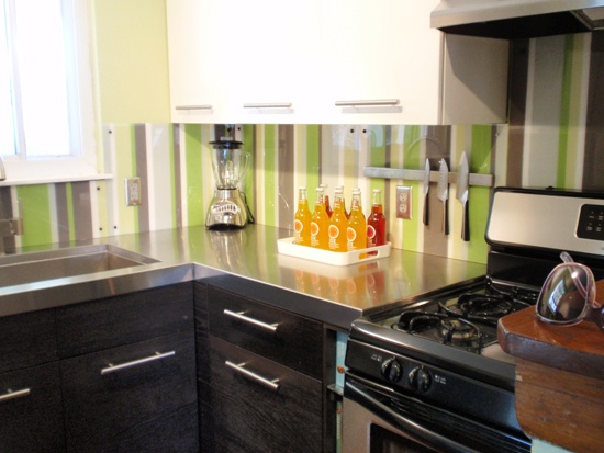 Diy Kitchen Backsplash With Back Painted Plexiglass