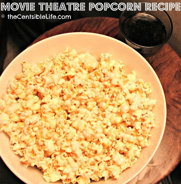 Do you love movie theatre popcorn as much as I do? Then you'll LOVE this recipe for movie popcorn made at home! It's frugal, easy to make, great for any party, and the whole family will LOVE it!