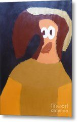 Metal Print featuring the painting Portrait Of Marianna Of Austria 2015 - After Diego Velazquez by Patrick Francis