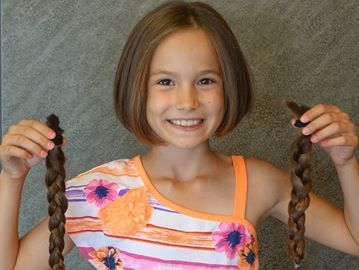 Milton girl sheds her locks for charity | Milton Canadian Champion | August 22, 2014 #hair #donate #AngelHairforKids