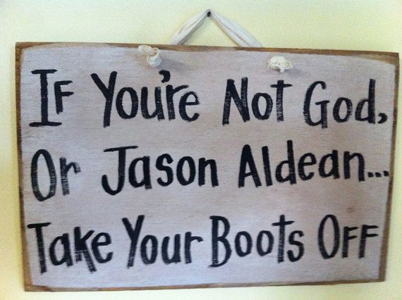 If you're not God or JASON ALDEAN take your boots by trimblecrafts, $9.99