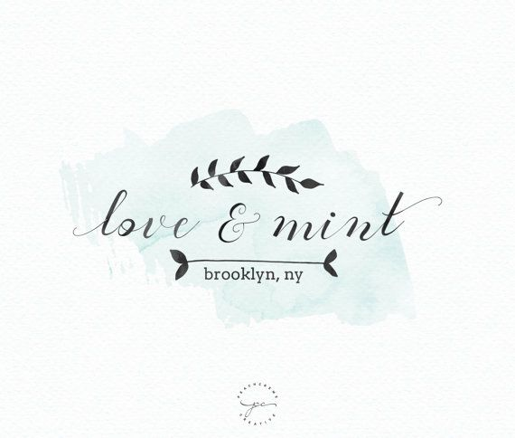 This Premade logo would be perfect for photographers, bloggers, event planners, wedding venues, florists, interior designers, stylists, boutiques,
