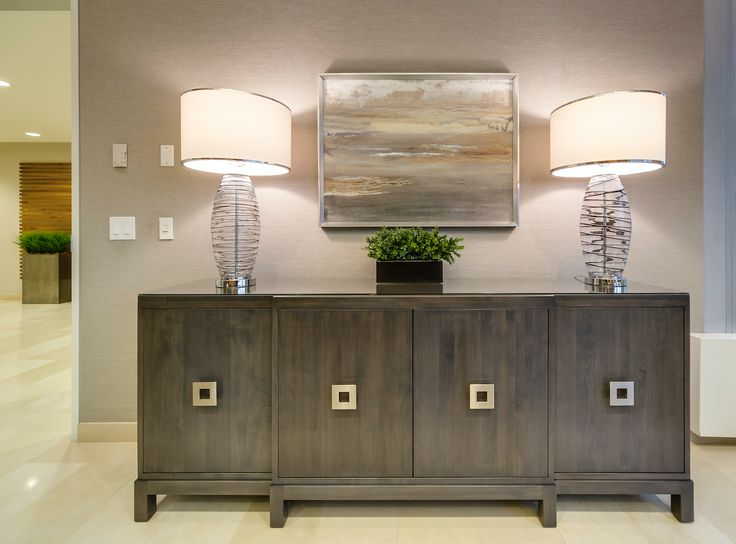 Custom console table for added elegance.