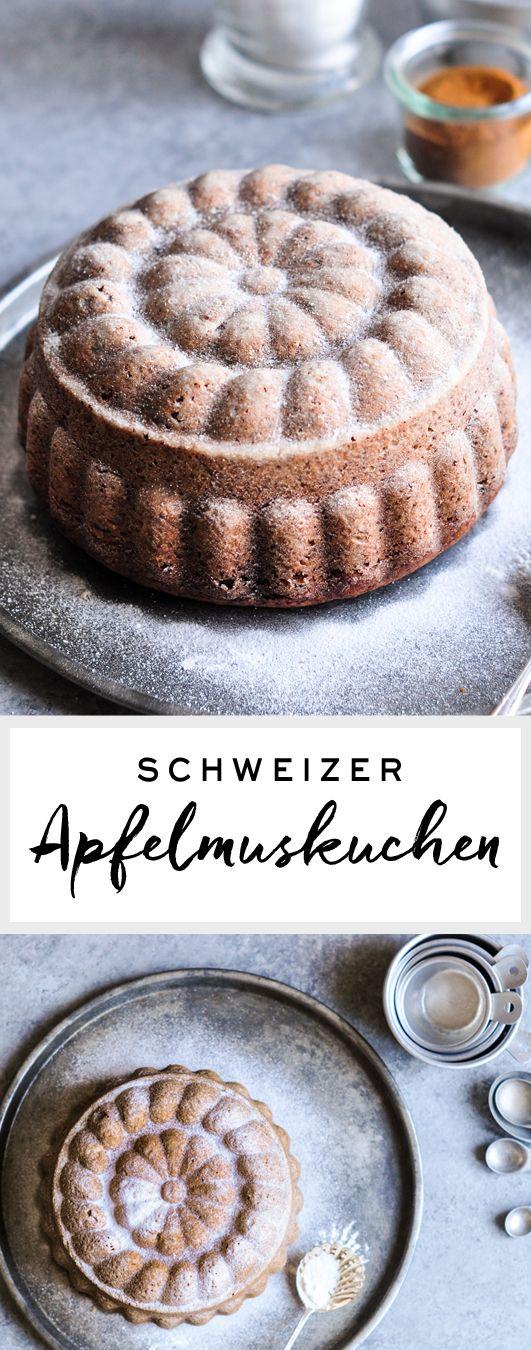 Rezept auf Englisch | Schweizer Apfelmuskuchen | eatlittlebird.com