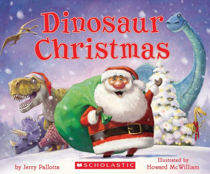 """Santa Claus reminisces about """"the good old days"""" when dinosaurs pulled his sleigh.   Children will love meeting Santa's prehistoric friends in Jerry Pallotta's silly and sweet new classic. Beautifully illustrated by Howard McWilliam, Dinosaur Christmas is a Christmas like no other!"""