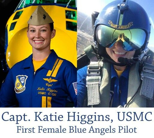 Capt. Kate Higgins makes history this weekend as she becomes the first female to join the famous Blue Angels this weekend.