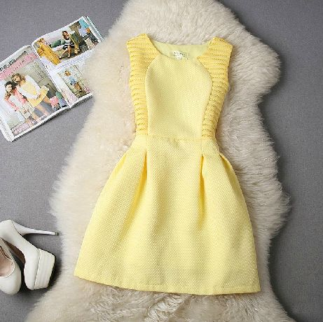 Slim lace vest dress SF110909JL