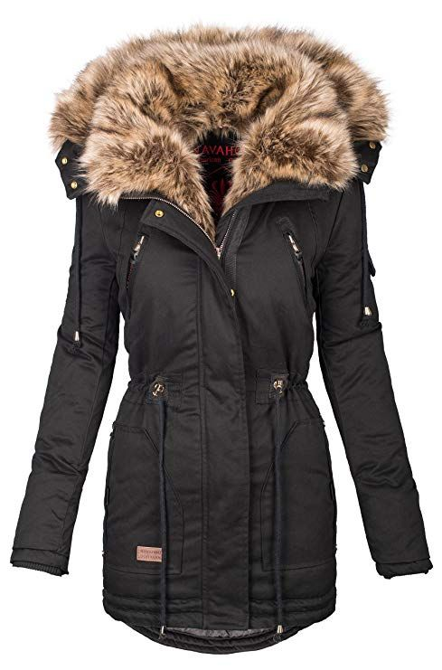 official photos 34988 99f63 Navahoo warme Damen Winter Jacke Parka lang Mantel ...