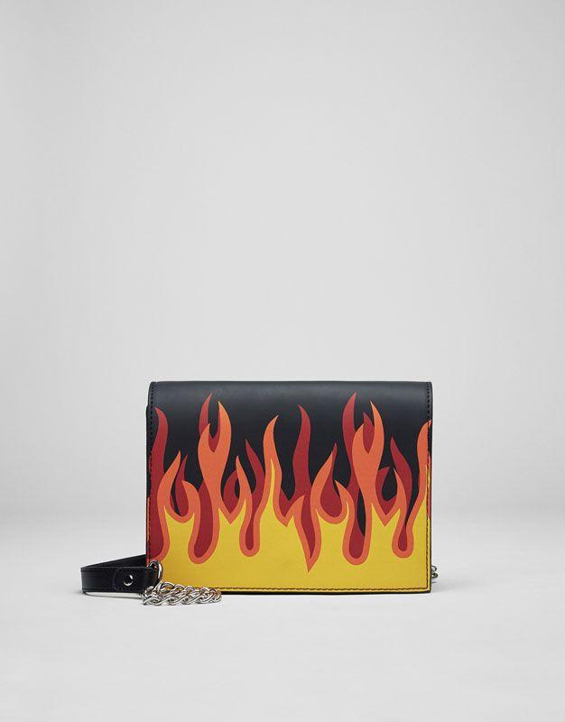 Pull&Bear - dames - accessoires - tassen - schoudertas met print - zwart - 14325214-V2017