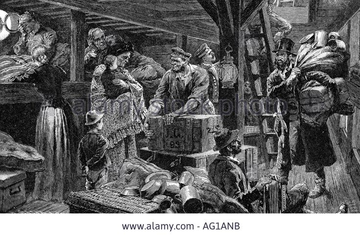 Transport / Transportation, Navigation, Emigrant Ship, Steerage Stock Photo, Picture And Royalty Free Image. Pic. 8035546