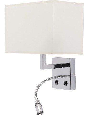 Kinkiet do sypialni HOTEL LED 6800 NOWODVORSKI Ilość i rodzaj źródeł światła: 1xE27 maks. 60W Źródła światła nie są dołączone do lampy. Wysokość: Wysokość klosza 18cm Szerokość: 26cm Odległość od ścia ...