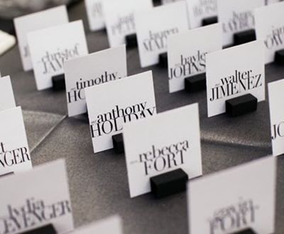 love the font on these place cards and the formating... much better than just plain old arial