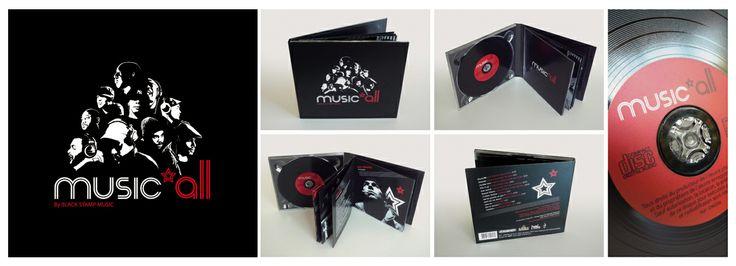 CD hip-hop Music'all  by www.gloo-studio.com