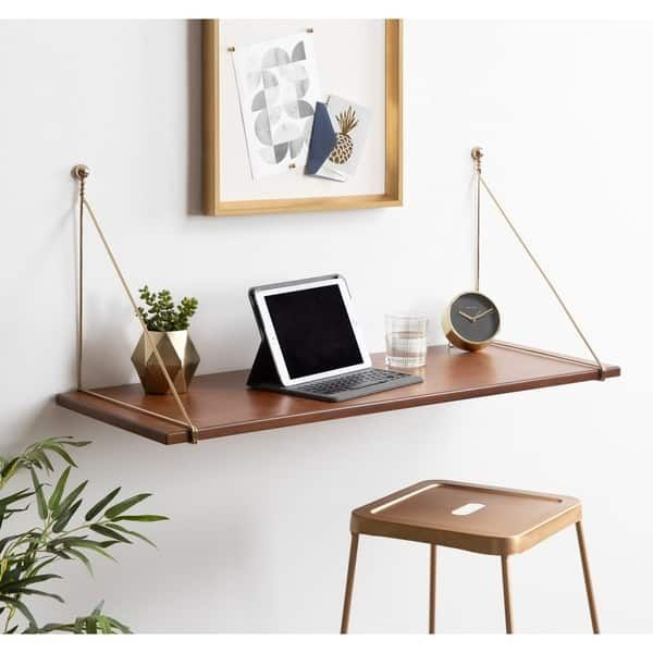 Overstock Com Online Shopping Bedding Furniture Electronics Jewelry Clothing More In 2020 Wall Mounted Desk Desks For Small Spaces Desk Shelves