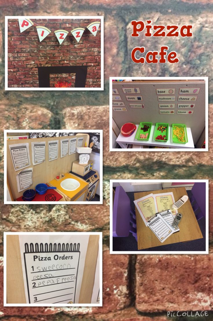 Pizza cafe. EYFS role play