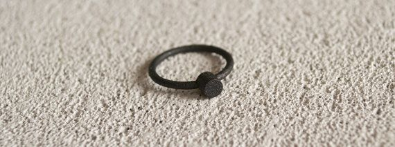 Minimalistic Matte Black Steel Ring. Simple cylinder by MBDdesign