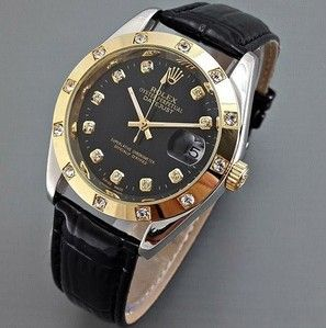 Rolex Datejust Automatic Kulit (Leather Black Ring Gold) Order >> SMS/WA: 0896 6230 4102 | BBM: 548A00DA