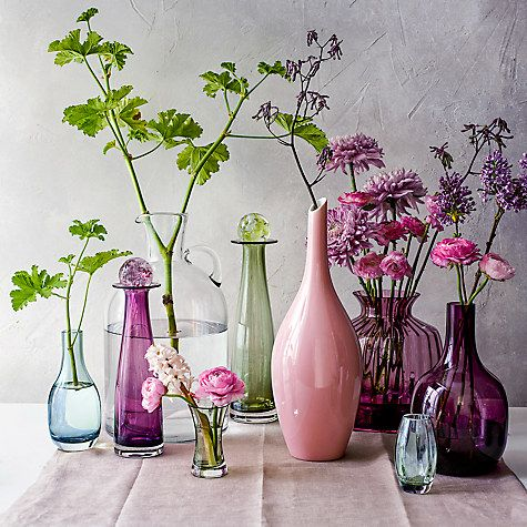 Buy Dartington Crystal Cushion Large Urn Vase, Heather Online at johnlewis.com