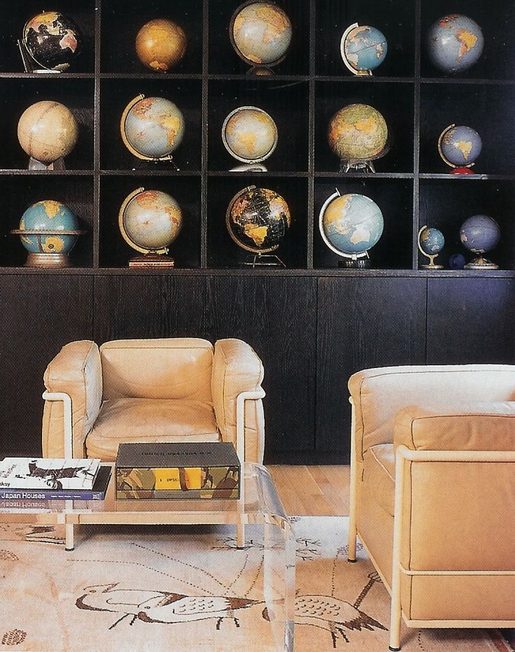 beautiful globe collection - love the muted colors