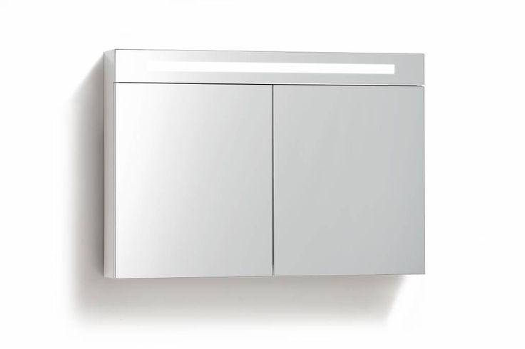 Spiegelkast 90 cm met TL Verlichting en stopcontact 2 kleuren leverbaar<br /> <br /> Spiegelkast van 90cm breed en maakt gebruik van een soft close systeem, waardoor de kast veilig in gebruik is en geen overbodig geluid maakt wanneer u deze sluit.