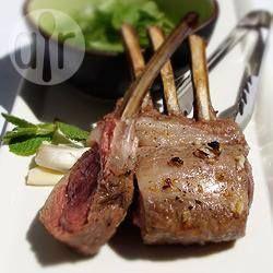 Lemon and Garlic Lamb Rack with Fresh Mint Sauce @ allrecipes.com.au