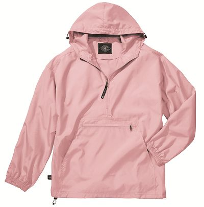 We don't mind the rain in these adorable pullover rain jackets!