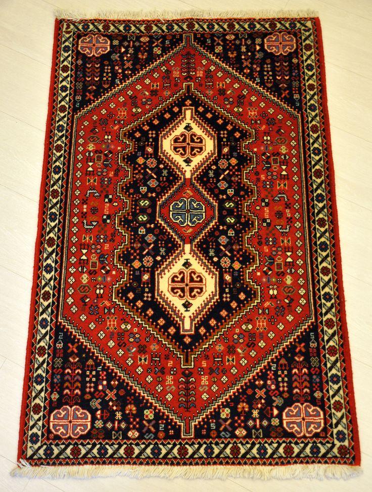 Abadeh, tappeto persiano annodato a mano 127 x 78 cm (500 euro)