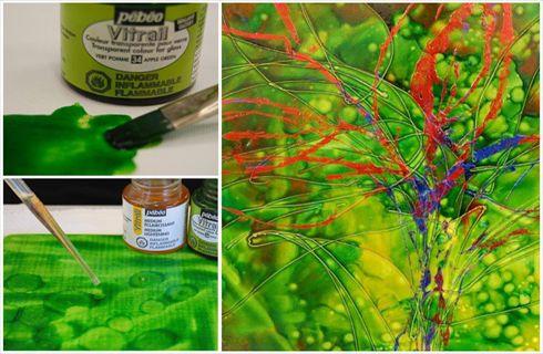 Vitrail et m dium claircissant divers pinterest for Pebeo vitrail glass paint instructions