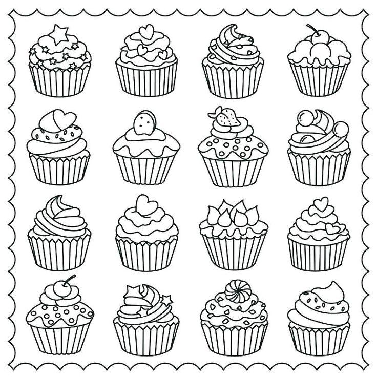 Pin de Carla Palacios en postres Dibujos de cupcakes