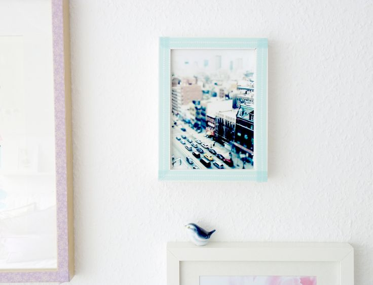 Frame makeover using washi tape