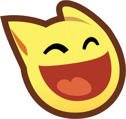 FT - smiley chat éclat de rire - émoticône clipart cartoon - téléchargement gratuit et sans inscription