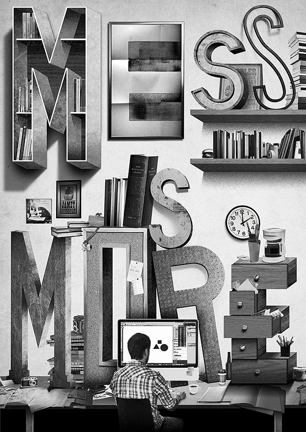 MESS IS MORE - Fontfirma | Designcollector