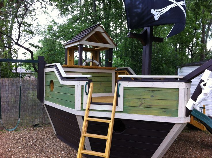 Coolest play fort ever!! Playground Pirate Ship