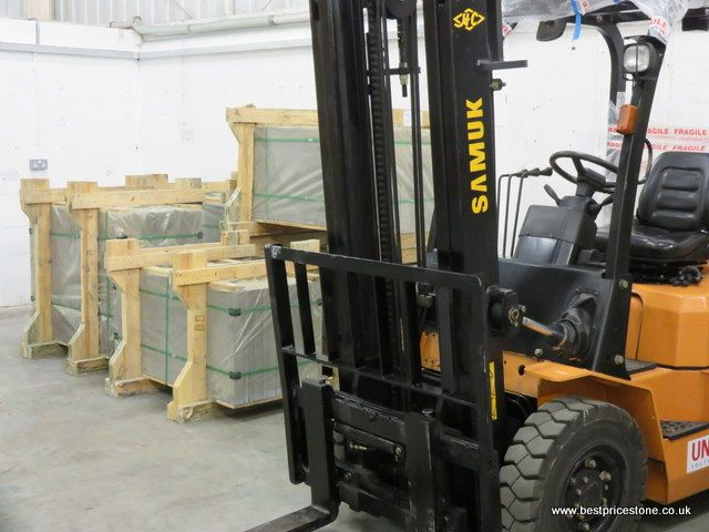 You need a forklift for these Brazilian sills!