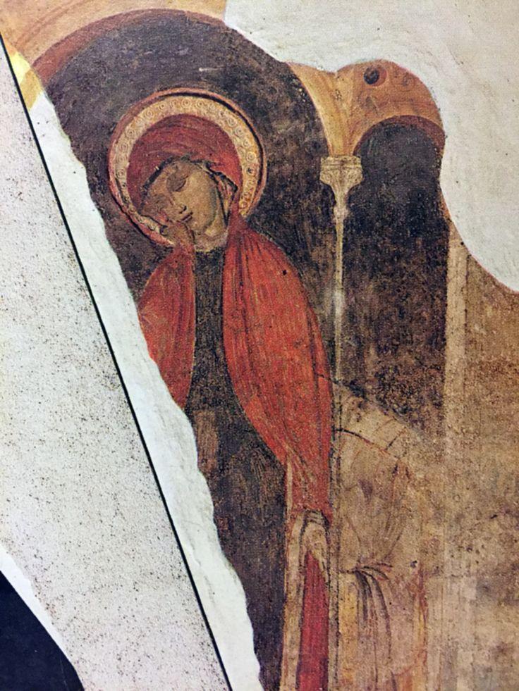 Annunciazione da San Giovanni in Conca. Fine Duecento. Ora al Museo di Castello Sforzesco di Milano