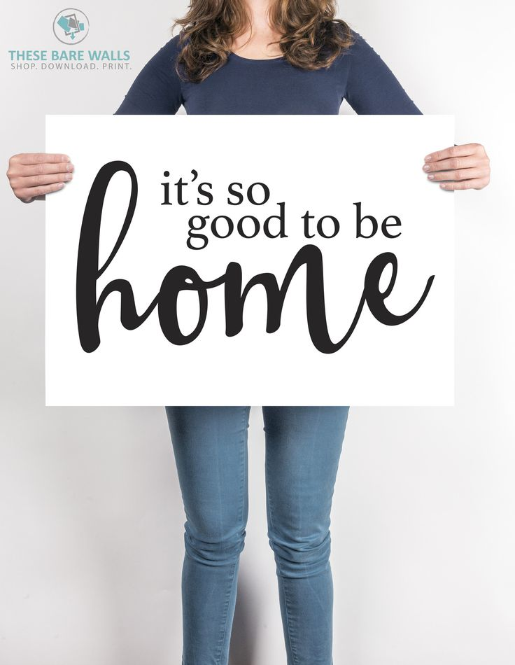 It's So Good To Be Home Engineering Print | Printable Art - These Bare Walls - | Affordable Art | Affordable Prints | Large Prints | Home Quotes | Home Decor | Prints for Home | So Good Prints | Staples Engineering Prints | Prints for Cheap |