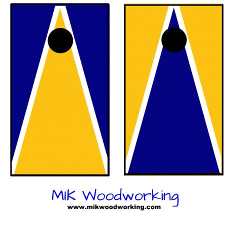 west virginia university cornhole set by mik woodworking - Cornhole Design Ideas