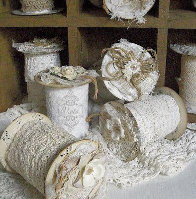 Superbe idée à partir de rouleaux de papier toilette vide....