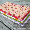 Cute and Simple Baby Burp Rags #babygift #freepattern