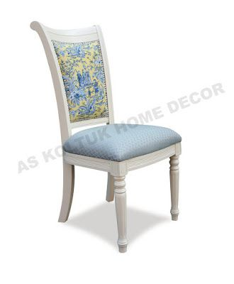 AS Koltuk Home Decor: For Sale - White and Blue Classic Chair